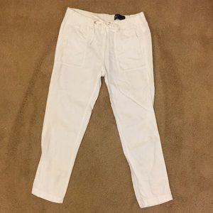 White linen GAP pants